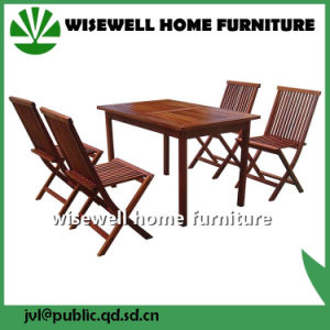Solid Wood Outdoor Folding Table with Folding Chair pictures & photos