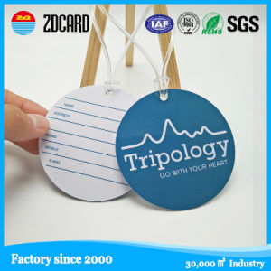 Custom Plastic Soft PVC Luggage Hang Tags pictures & photos