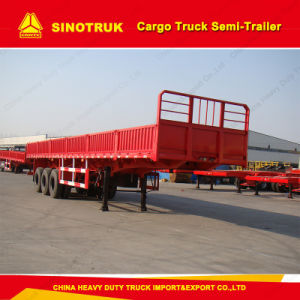3 Axle Truck Trailer 50 Tons Cargo Truck Semi-Trailer pictures & photos