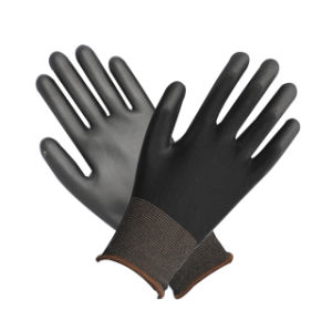 Black PU Glove with Ce pictures & photos