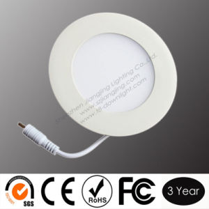 3W (90*21mm) Round LED Panel Light (JJ-PL3W-R90-P)