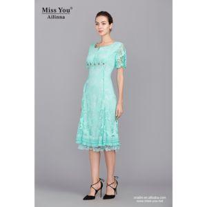Miss You Ailinna 102087 Light Green Long Flower Dress Wholesaler pictures & photos