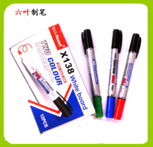 Two Head Whiteboard Marker Pen (X-138) , Double Head Dry Eraser Pen pictures & photos