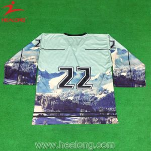 Healong Ice Hockey Colorful Jersey Mockup Design Customized Design pictures & photos