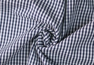 Navy/White Classical Checks Plain Polyester Cotton Shirt Fabric pictures & photos