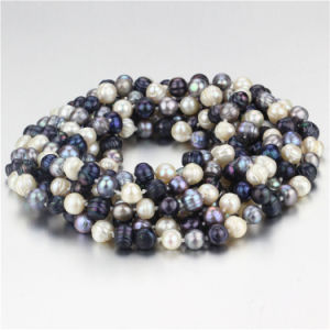 Snh 100inches Long Mixed Color Bead Pearl Necklace Jewelry