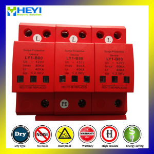 3pole Surge Protector Lightning for Household SPD pictures & photos