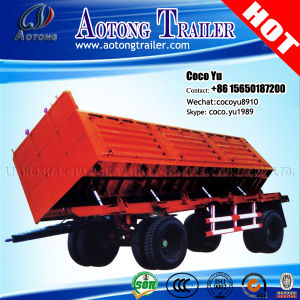 2/3 Axis Hydraulic Cylinder Side Tipping Full Trailer with Drawbar pictures & photos