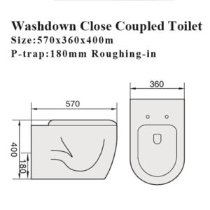 Watermark Sanitary Wares Bathroom Wc Pan Ceramic Toilet pictures & photos