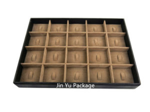 Chocolate Luxury Hand Made Wood & PU Jewelry Display for Necklace pictures & photos