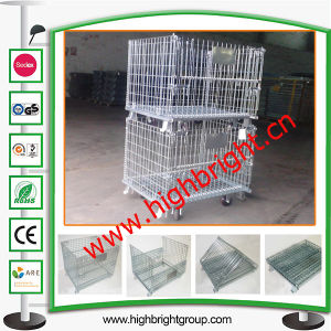 Steel Wire Mesh Industrial Stackable Storage Cage pictures & photos