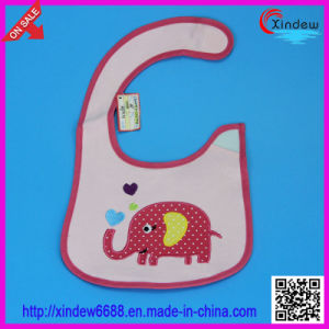 Baby′s Cotton Embroidered Bib with Animal Pattern pictures & photos