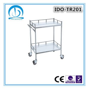 Two Shelves S. S Instrument Trolley pictures & photos
