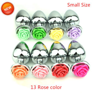 Small Size Rose Metal Anal Butt Plug Sex Toys GS0012 pictures & photos