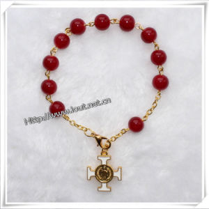 Top Sale Fashion Catholic Rosary Glass Bead Rosary / Beaded Rosary Bracelet (IO-CB075) pictures & photos