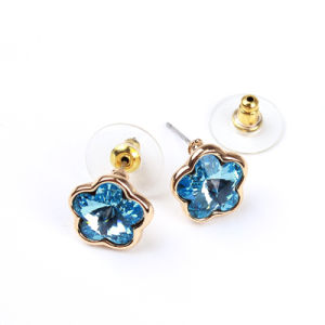 Cute Metal Earring with Stone (EH020)