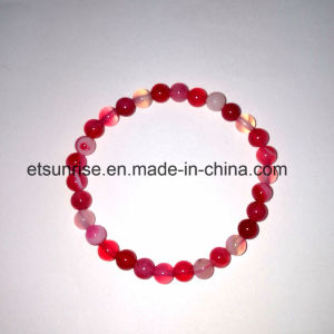 Semi Precious Stone Natural Crystal Striped Agate Bead Bracelet pictures & photos