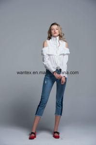 Ladies Blouse Naked Shoulder 100% Cotton Fashion Shirt Fashion Top Spring Autumn pictures & photos