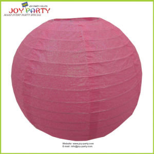 Wedding Decorative Pink Glittering Paper Lantern pictures & photos