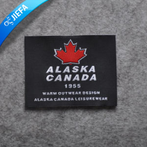 New Design Eco-Friendly Custom Stain Woven Label for Garment pictures & photos