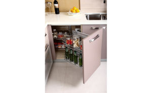 Custom Red Shiny Acrylic Kitchen Furniture (zv-023) pictures & photos