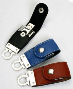 Leather USB Flash Drive 4GB/8GB/16GB/32GB Pendrive USB Stick pictures & photos