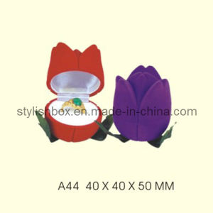 Tulip Shape Fancy Velvet Ring Box (A44)