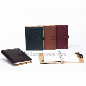 Custom Logo PU Loose Leaf Note Book pictures & photos