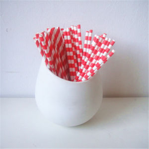 Red Rugby Striped 100% Eco-Friendly Paper Party Supply pictures & photos