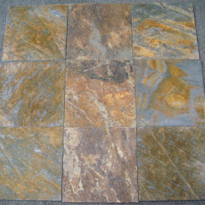 Rusty Slate Flooring Tiles with Honed Finishing pictures & photos
