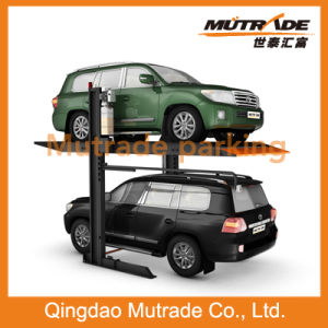 3.2ton Two Post Double Cylinder Hydraulic SUV Parking Lift pictures & photos