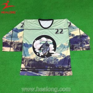 Healong Colorful Mockup Design Customized Design Ice Hockey Jersey pictures & photos