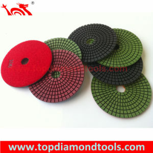"4"" Wet Granite Stone Diamond Polishing Pad pictures & photos"