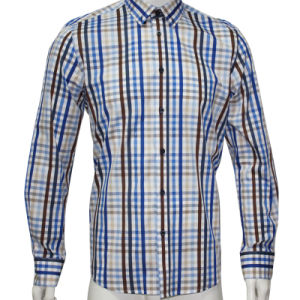 Man′s Fashion Casual Shirts with Elbow Patch HD0032