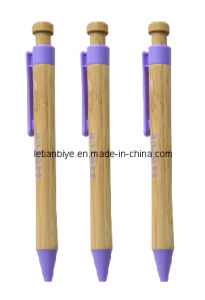 Eco-Friendly Bamboo Ball Pen with Plastic Clip (LT-C485) pictures & photos