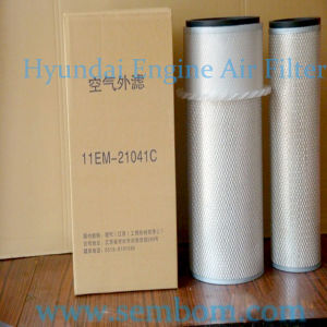 High Performance Engine Air Filter for Hyundai Excavator/Loader/Bulldozer pictures & photos