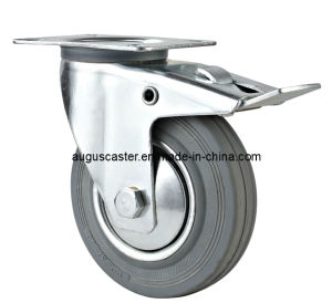Industry Swivel with Brake Rubber Caster