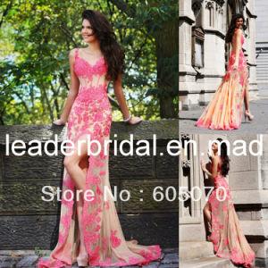 2014 cost efficient stunning hot sale applique tea length organza wholesale cocktail cream wedding dress