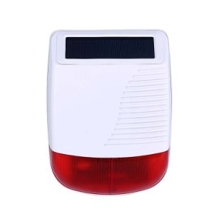 Outdoor Wireless Solar Powered Siren with Flash (ES-8103S) pictures & photos