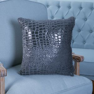 Sequin Embroidery Decorative Cushion/Pillow with Wave Pattern (MX-46) pictures & photos