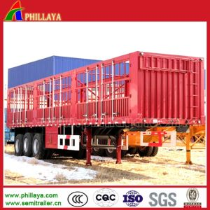Carbon Steel Livestock Animal Transport Semi Truck Cattle Horse Trailer pictures & photos