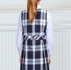 Hot Sale Classic Plain Striped Grid School Uniform Dress for Girls pictures & photos
