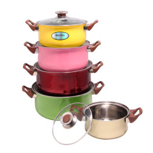 Colorful Stainless Steel Casserole Pot Set pictures & photos