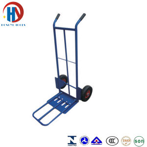 Blue Metal Hand Trolley pictures & photos