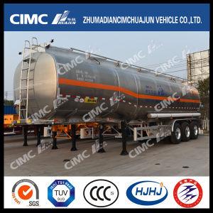 Cimc Huajun Oblong-Shaped Aluminium Alloy Fuel/Gasoline/LPG/Oil/Liquid Tanker pictures & photos