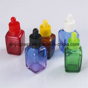 Square Essential Oil Glass Bottles Dropper Bottles pictures & photos
