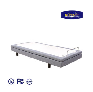 2017 New Design Electric Bed Adjustable Bed Head & Foot up Down Bed with Bed Skirt pictures & photos