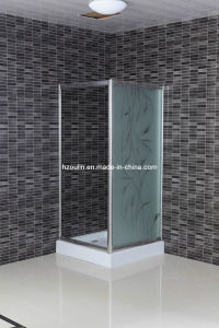 5mm Acid Glass Shower Room with Square Tray (EM-800) pictures & photos