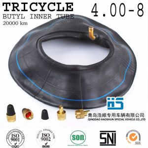 Tricycle Butyl Inner Tube Mrf Tuktuk Tyre Tube Three Wheeler Tyre and Tube 4.00-8 Iron Valve 4.00-12 4.50-12 5.00-12 pictures & photos