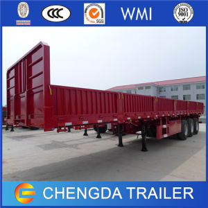 Chinese 50ton Dropside Semi Trailer with 12 Twist Locks pictures & photos